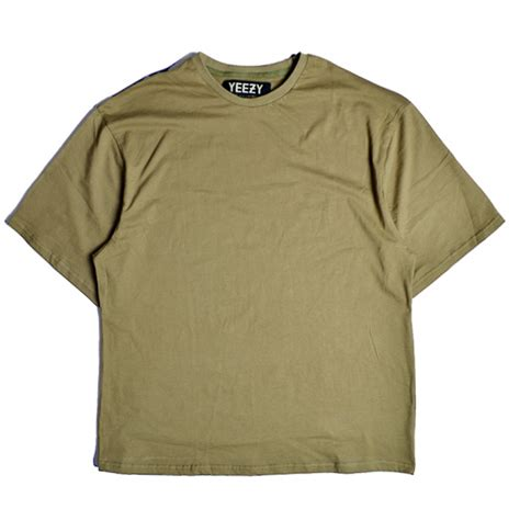 T Shirt yeezy plain t shirt green