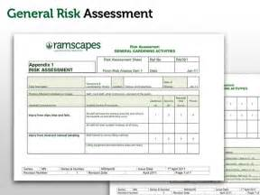 scaffolding risk assessment template ramscapes health and safety policy commercial