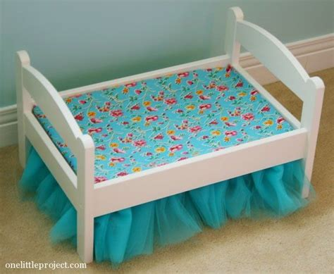 how to make an american girl doll bed how to make a tulle bedskirt for an ikea duktig doll s bed