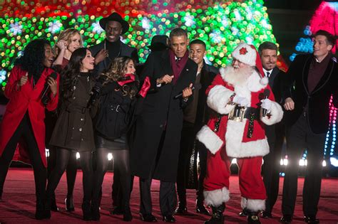 obama tree lighting decking the national tree with codes of jolly