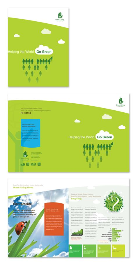 recycling brochure template dlayouts graphic design