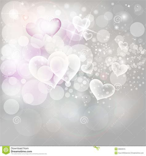 Valentines Day Holiday Background Silver Lights An Stock