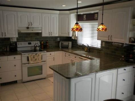 White Kitchen Cabinets Black Granite Countertops White Kitchen Cabinets Granite Countertops My Home Design Journey