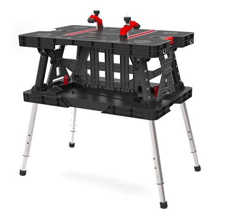 keter portable work table keter 217679 adjustable leg folding work table free