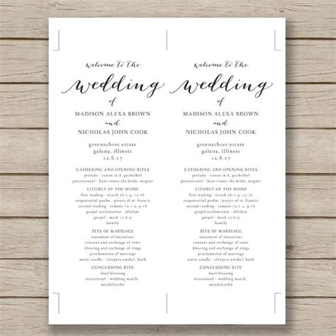 Wedding Program Template 41 Free Word Pdf Psd Documents Download Free Premium Word Document Wedding Program Template