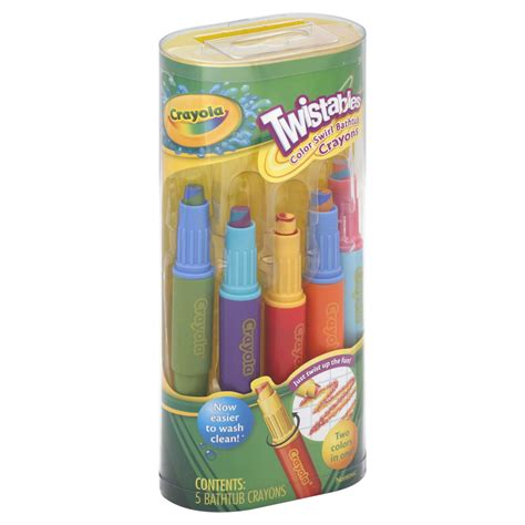 bathtub crayons crayola twistables color swirl bathtub crayons 5 piece