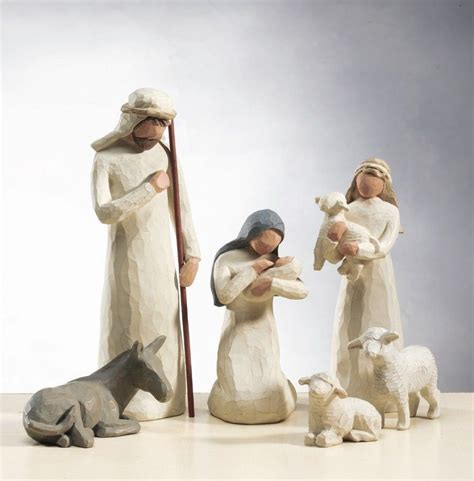 demdaco set of 6 willow tree nativity set stock 26005