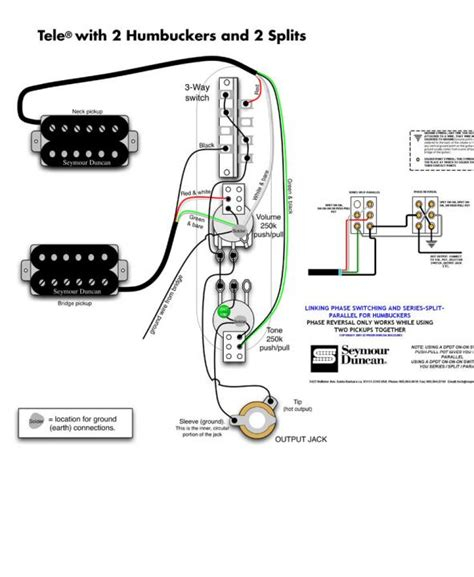 wiring diagram  humbuckers coil splits  series