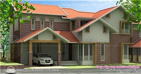 2490 sq ft sloped roof single floor home design veeduonline 2490 sq ft 4 bedroom villa exterior kerala home design