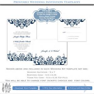 create your wedding invitations printable blue templates