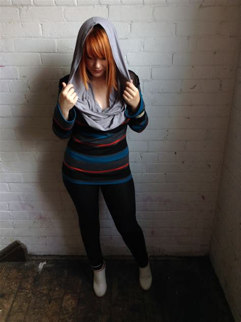 Striped Hooded Top striped hooded top sewing projects burdastyle