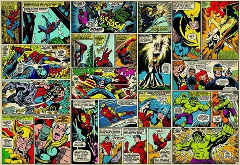 comic wall mural marvel comic wall mural photo wallpaper ebay