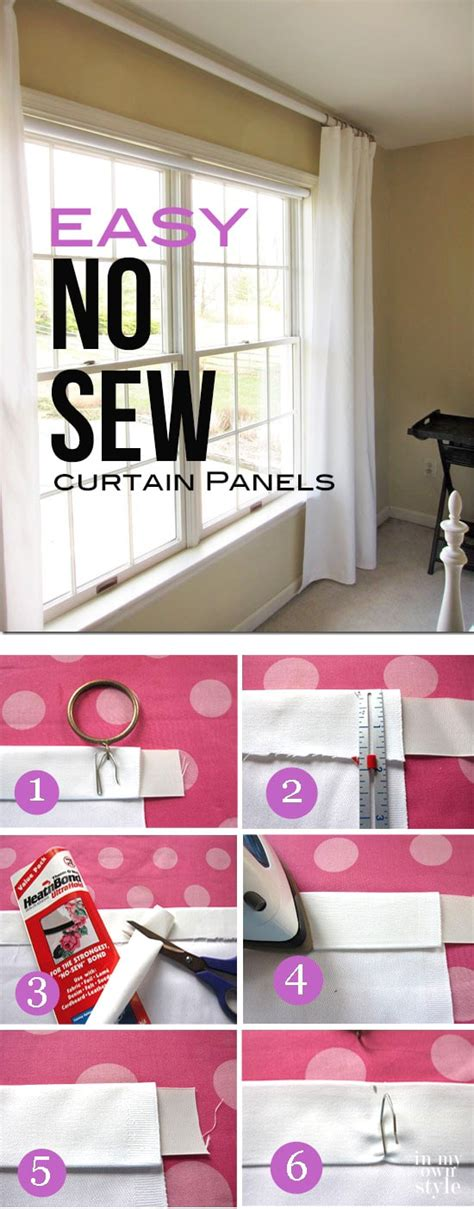 how to make your own curtains no sew how to make a no sew curtain panel curtain menzilperde net