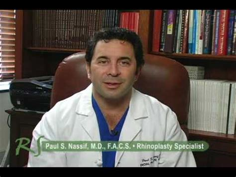 dr nassif safety risks of nose surgery presented by dr paul