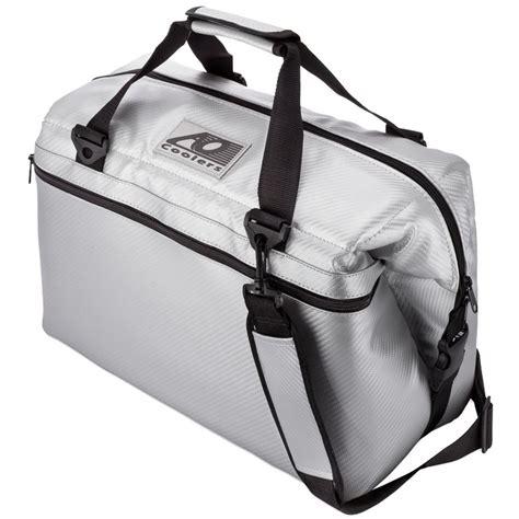 ao pocket ao coolers 30 qt soft carbon cooler with shoulder and wide outside pocket aocr24sl the