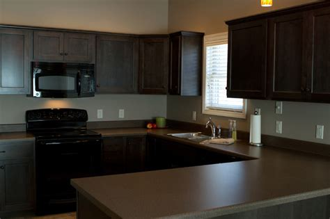 Charcoal Stained Cabinets   Traditional   Kitchen   Other