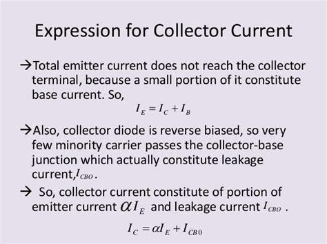 diode current expression presentation on bipolar junction transistor