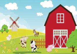 boerderij kinderkamer thema boerderij fotobehang muurstickers en meer