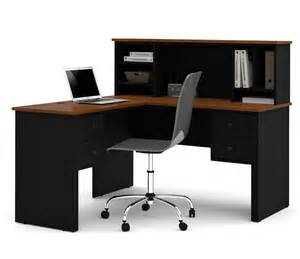l desk with hutch bestar somerville l desk with hutch