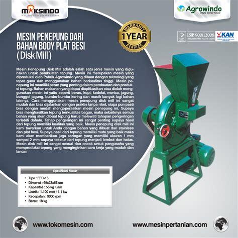 Mesin Giling Tepung Ffc 15 Mesin Bensin Gx 160 5 5 Hp Gilingan mesin pembuat tepung disc mill agrowindo agrowindo
