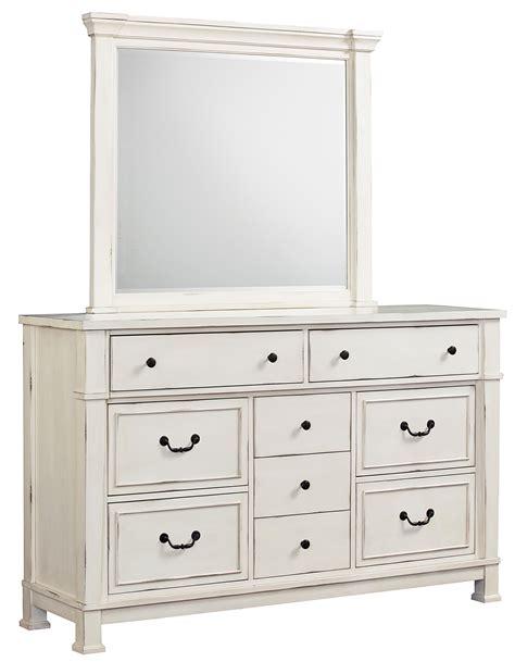 White Dresser Set by Standard Furniture Chesapeake Bay Vintage White Dresser And Mirror Set Dunk Bright Furniture