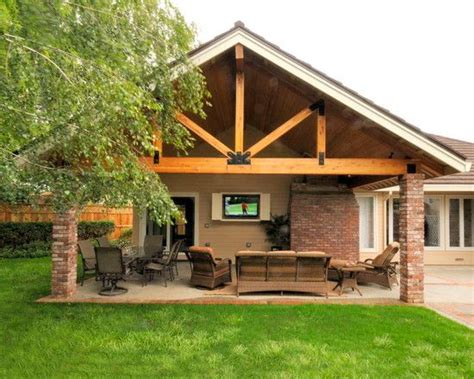 ideas for covered back porch on single story ranch traditional patio covered patio design pictures remodel
