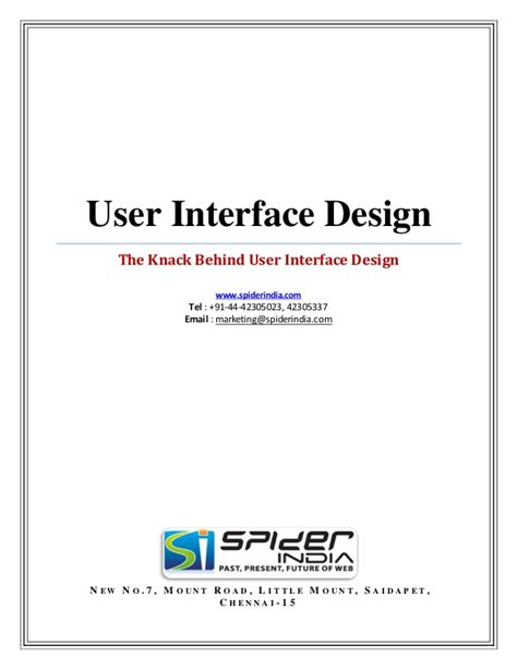 interface design document template the knack user interface design pdf document