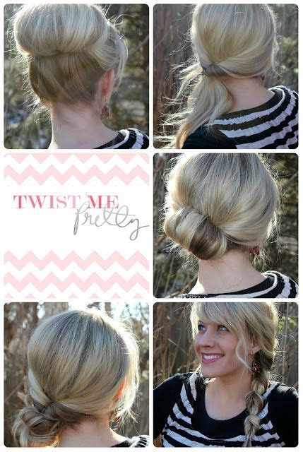 quick  simple updo hairstyles  medium hair