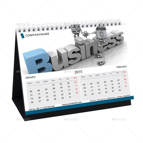 Desk Calendar 2015 by 2015 Corporate Desk Calendar Design By Designdash