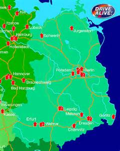 Map Of East Germany by Eastern Germany Tourist Information