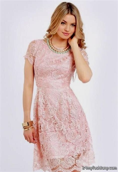 Gbs Lace Dress Baby Pink pink lace dress with sleeves 2016 2017 b2b fashion