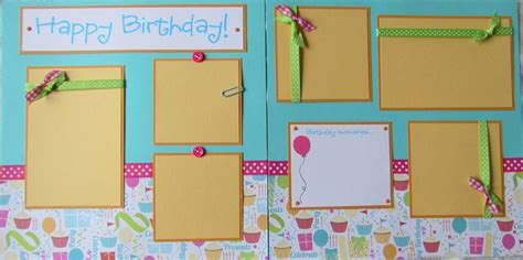scrapbook layout ideas for birthday premade 12x12 scrapbook pages birthday layout happy