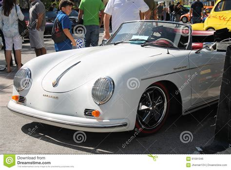 porsche convertible white vintage white porsche convertible editorial photo image