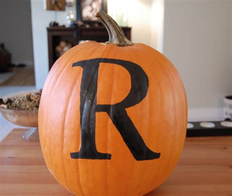 monogram pumpkin the girl in the red shoes