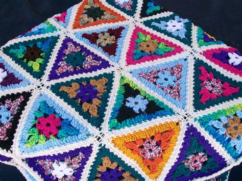 pattern for triangle afghan triangle scrap yarn afghan