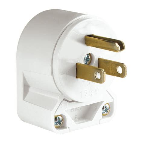 3 wire plugs shop eaton 15 125 volt white 3 wire at lowes