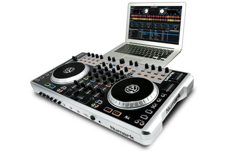 dj deck controller numark n4 4 deck digital dj controller and mixer