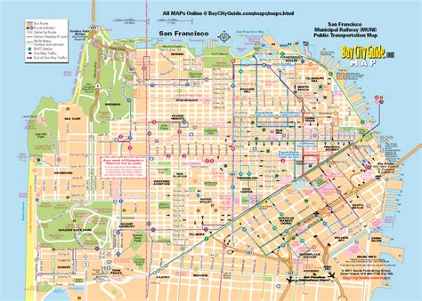 san francisco muni map 0 tourist map san francisco muni system 0a