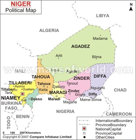 political map of niger niger map and niger satellite images