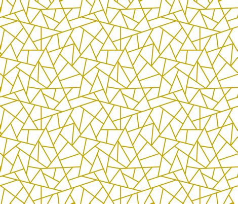 abstract geometric gold on white small wallpaper sierra