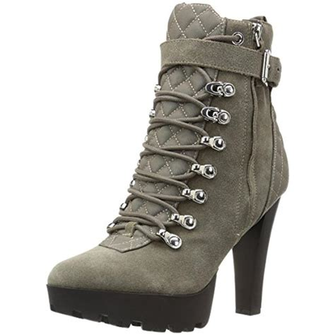 guess 2060 womens chalisa suede lace up ankle booties