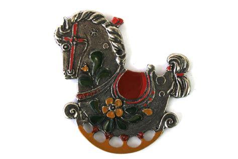 Handmade German Ornaments - vintage handmade painted pewter germany german rocking
