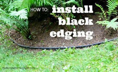 How To Edge Your Landscape That S My Letter Quot B Quot Is For Black Edging
