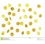 3d Rendered Failing Golden Coins Stock Illustration