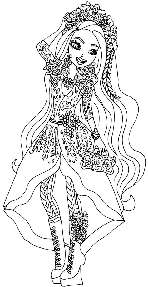 ever after high coloring pages darling charming free printable ever after high coloring pages holly o