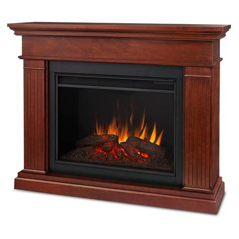 Dynamic Home Decor Real 8070e De Kennedy Grand Indoor Ventless Electric Fireplace In Espresso
