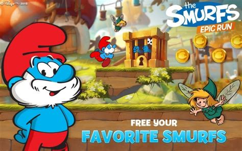 smurfs apk smurfs epic run apk data mod money v1 8 1 program indir program