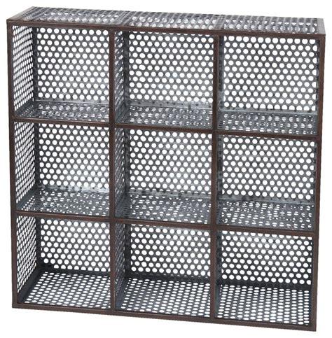 Mesh Shelving Metal Mesh Wall Organizer Rustic Utility Shelves By
