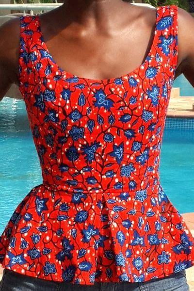 peplum ankara tops images red ankara top simple yet elegant beauty of ankara