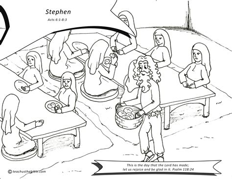 coloring pages bible stephen stephen teach us the bible